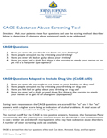 4.CAGE SubstanceAbuse Screening Tool