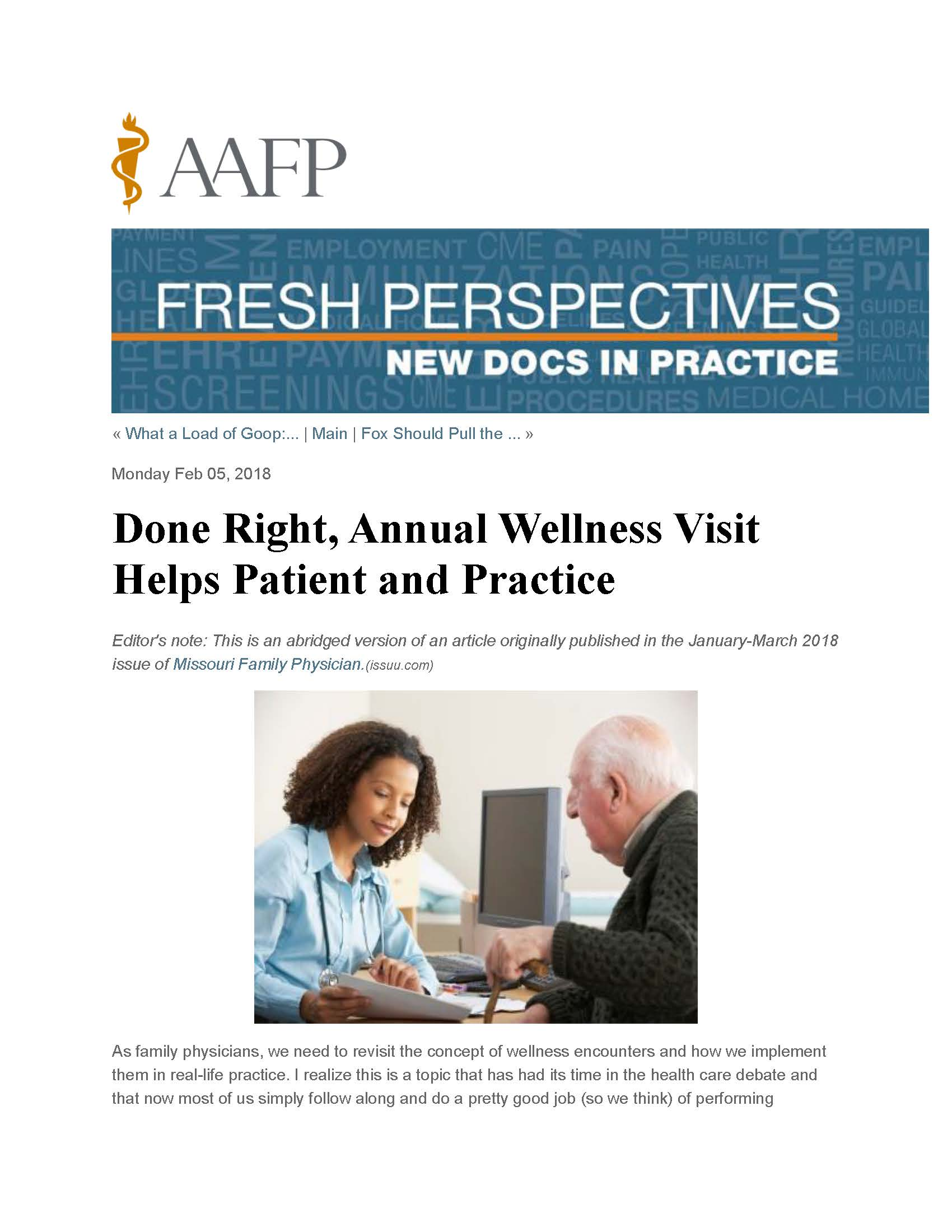 AAFP Fresh Perspectives