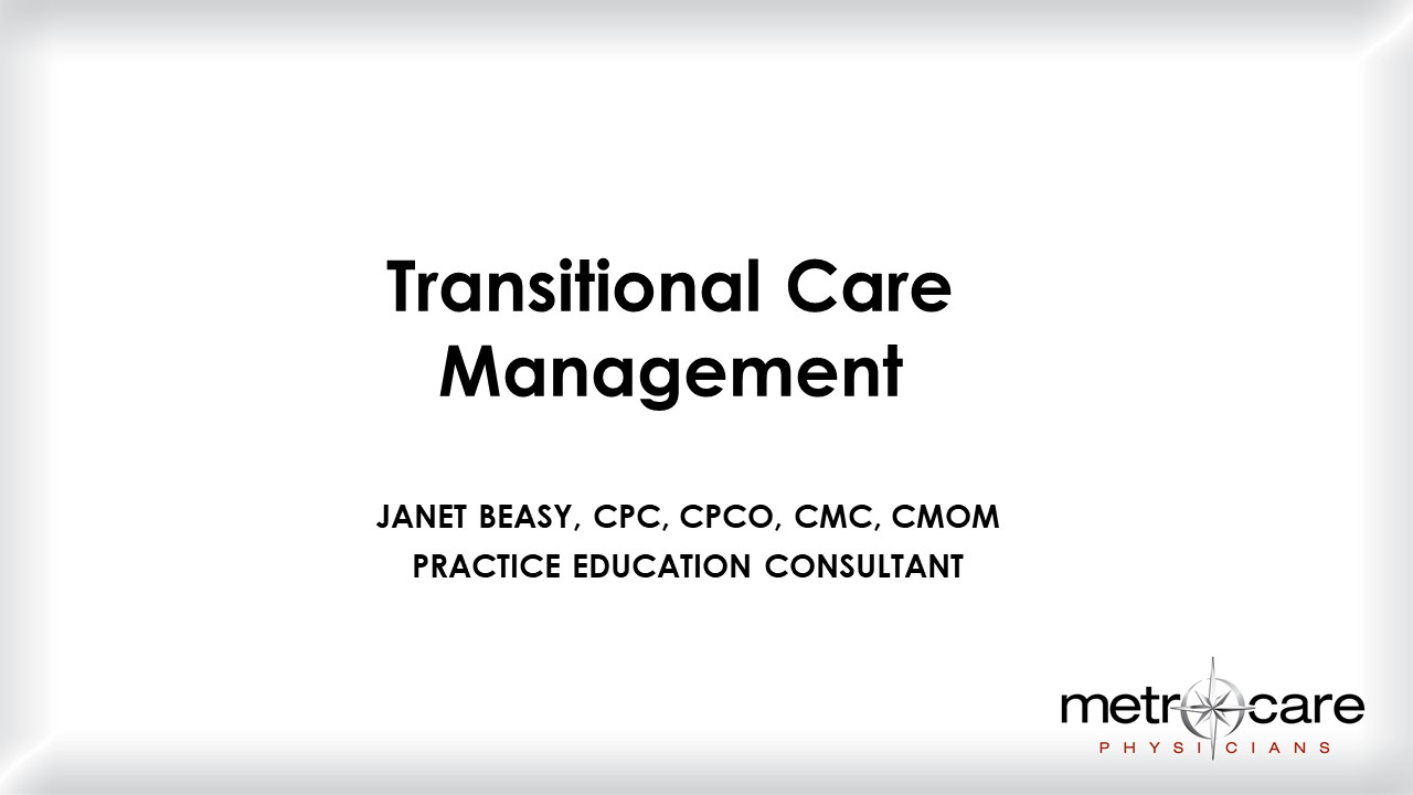 BEASY Transitional Care Management
