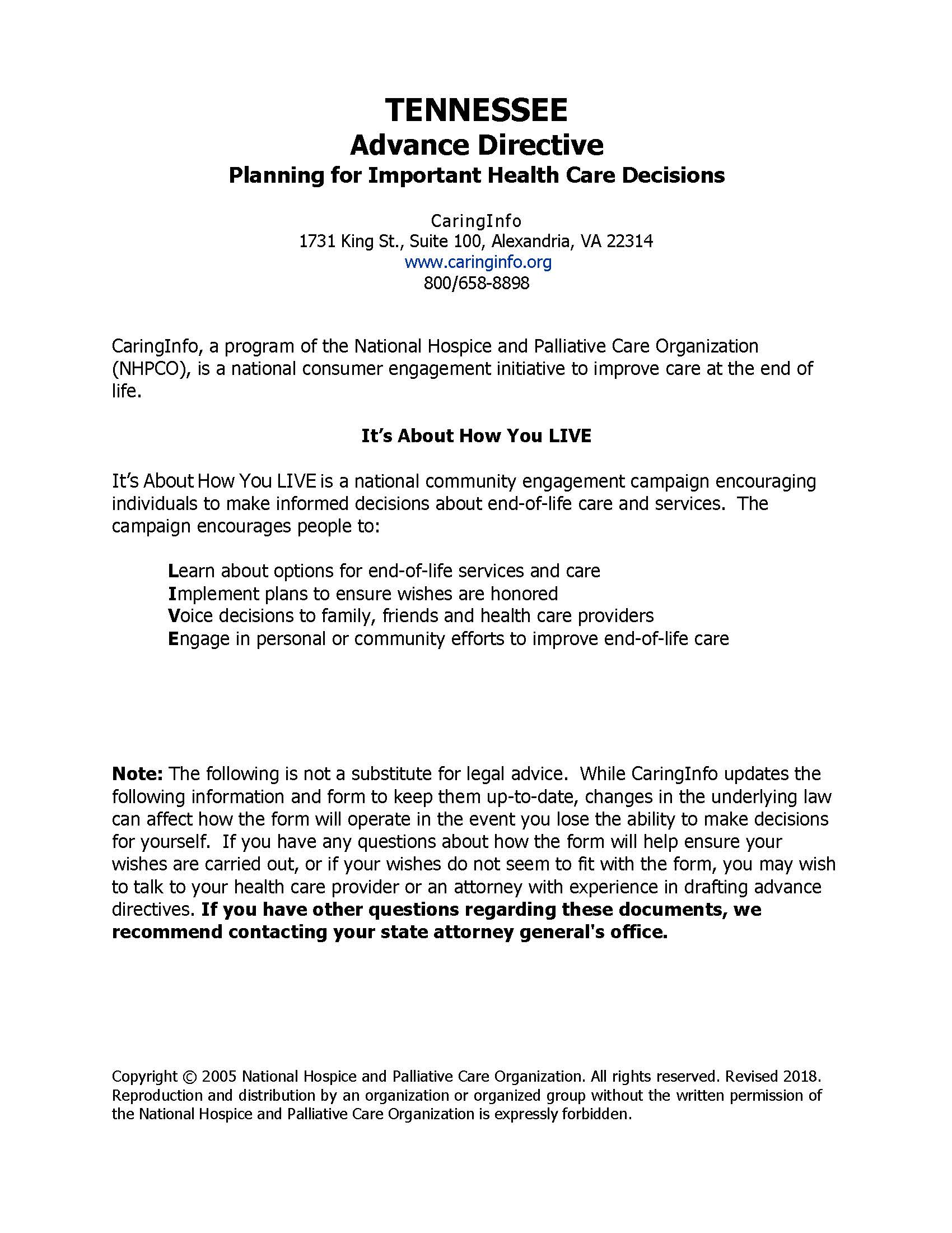 Pages from 43. TN Advance Directive for Healthcare